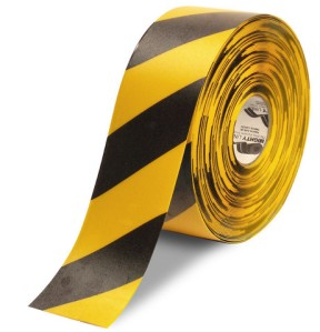 4 inch Yellow and Black Safety Hazard Floor Tape
