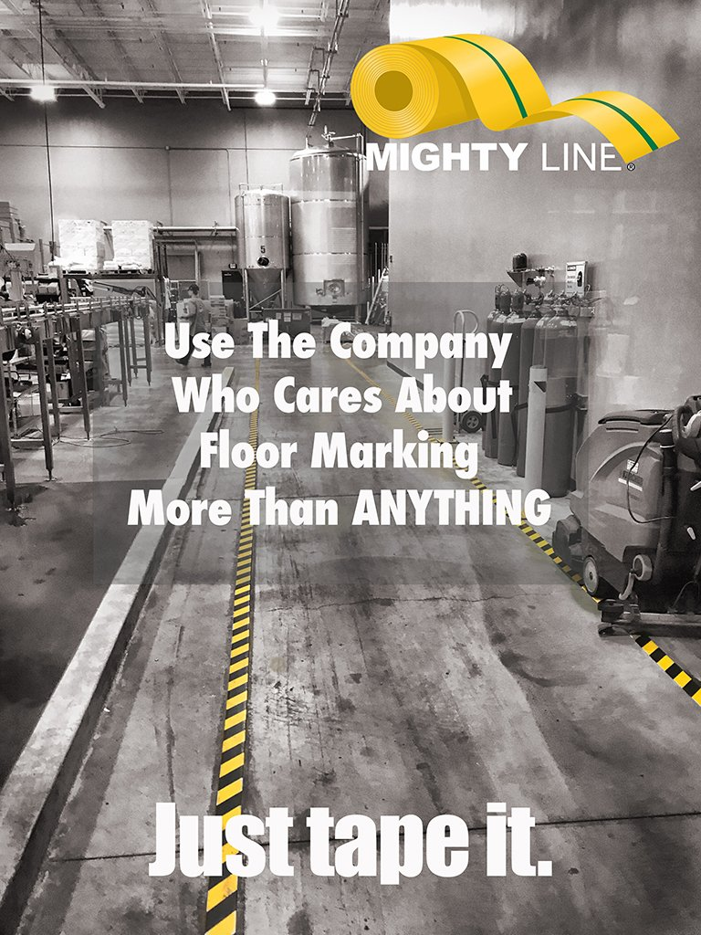 Floor Tape, Safety Floor Tape, 5s Floor Tape, Floor Signs., Mighty Line Floor Signs,